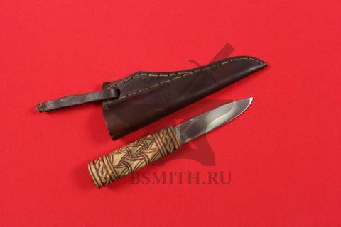 Нож бытовой средневековый, вариант 7, с ножнами