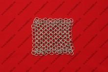 Кольчужное полотно, 10х10 см, кольца 1.6х8 мм, фото 1