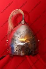 Шлем из Черной Могилы (тип 2), с плюмажем, и кожаной полосой под бармицу, фото 1