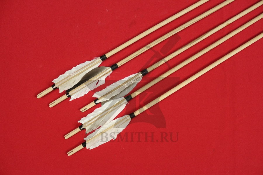 Древко стрелы с оперением, 9 мм / 80 см, несколько штук, фото 2