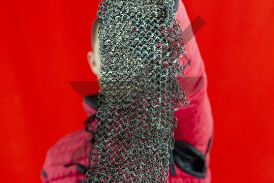 Бармица клепаная расклиненная 1.4х9, ожерелье с фестонами, фото 5