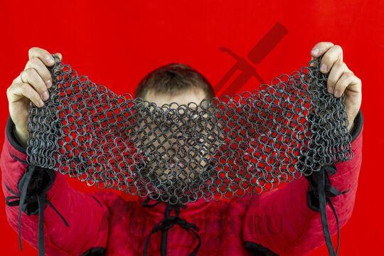 Бармица клепаная расклиненная 2х14, ожерелье круглое, фото 5