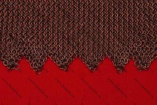 Бармица прямая с фестонами омедненная, 1.6х8 мм, фото 2