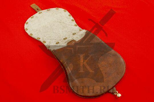 Сумка венгерская с чеканкой, коричневая, подкладка лен, фото 4