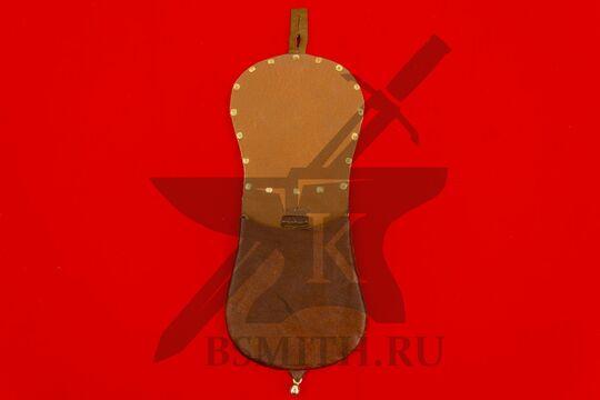 Сумка венгерская с чеканкой, вариант 2, коричневая, подкладка кожа, фото 2