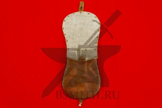 Сумка венгерская с чеканкой, вариант 2, коричневая, подкладка лен, фото 2
