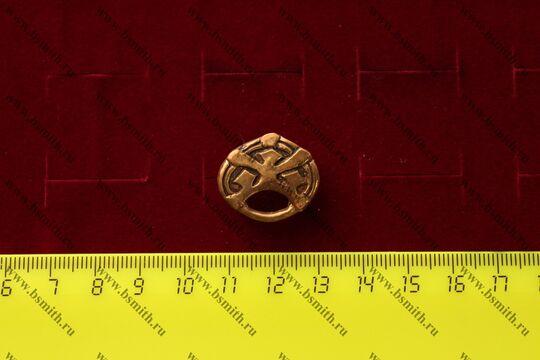 Поясная накладка, Венгерия, Карос, 11 век, размеры