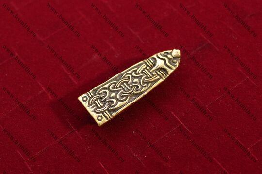Хвостовик, Бирка, 9-10 век, вид сбоку
