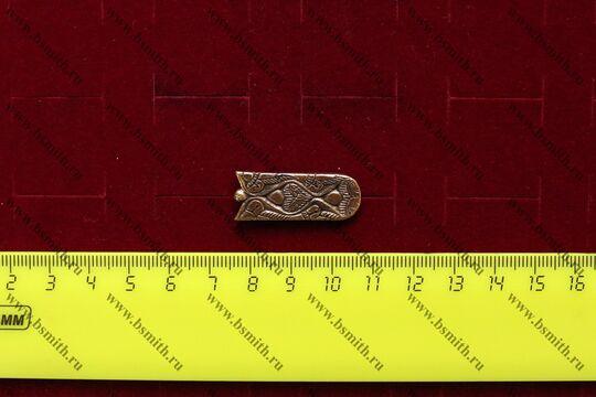 Хвостовик для ремня или ташки, Венгры, 10 век, размеры