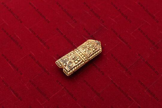 Хвостовик для ремня, Русь, 11-13 века, вид сбоку