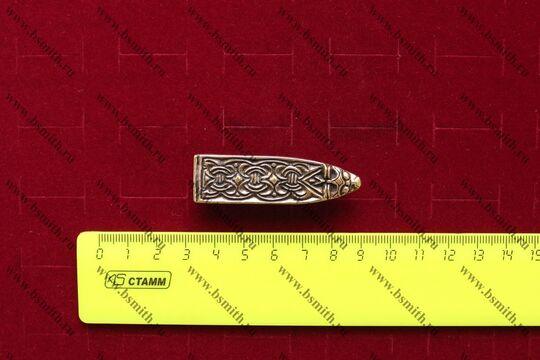 Хвостовик для ремня, Гнездово, Бирка, 9-10 века, размеры
