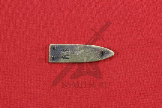 Хвостовик для ремня, Гнездово, Бирка, 9-10 века, обратная сторона