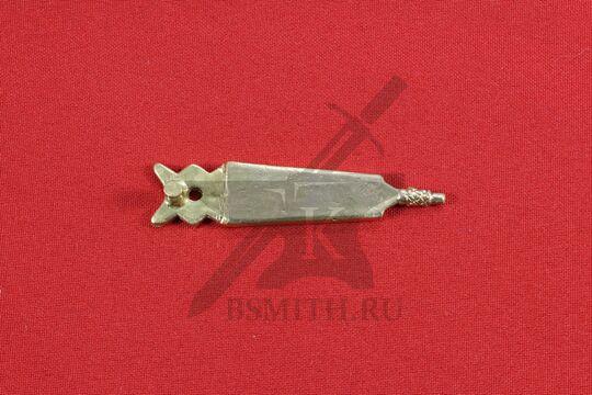 Хвостовик для ремня, Русь (Новгород), обратная сторона
