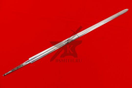 Клинок полуторного романского меча полированный