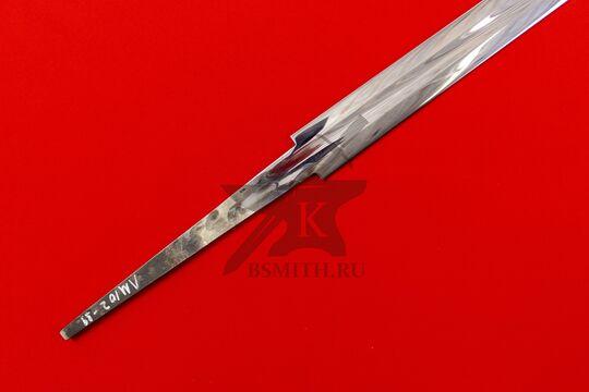 Клинок полуторного романского меча полированный, хвостовик крупно