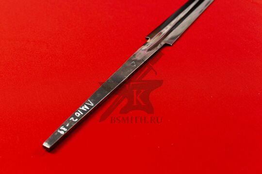 Клинок полуторного романского меча полированный, фото со стороны хвостовика