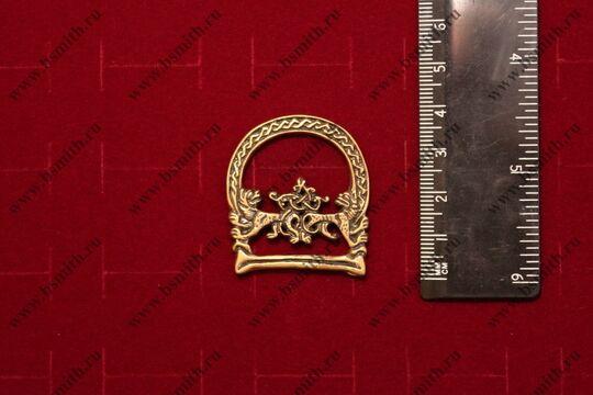 Пряжка ременная, монголы, 14-15 века, литье, латунь, размеры
