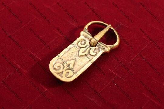 Пряжка, Русь, 9-11 века, вид сбоку