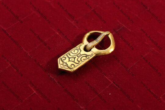 Пряжка, Русь (Белоозеро), 9-11 век, вид сбоку