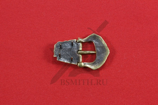 Пряжка, Бирка, 9-10 век, обратная сторона