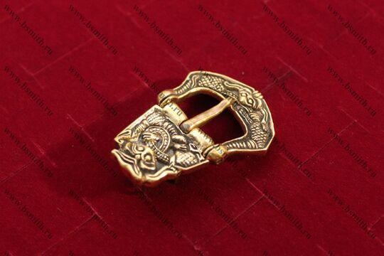 Пряжка, Бирка, 9-10 век, вид сбоку