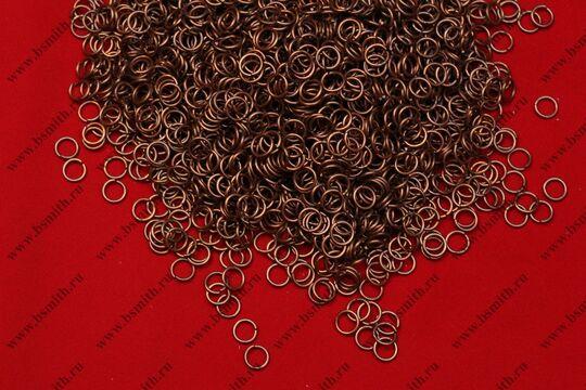 Кольца кольчужные омедненные 1.6х8, 1 кг, фото 2