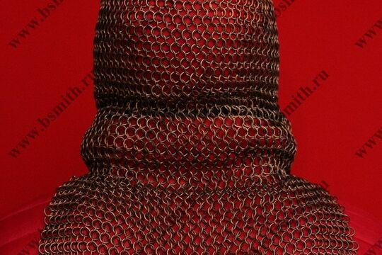 Койф кольчужный омедненный, 1.6х9 мм, прямоугольное ожерелье, фото 4