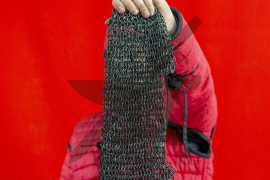 Койф клепаный 1.8х12, ожерелье круглое, плетение крупно