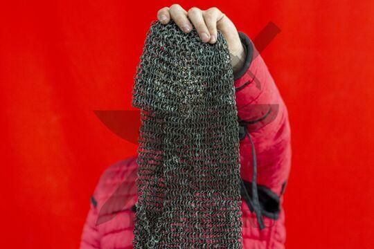 Койф клепаный 1.4х9, ожерелье круглое, плетение крупно
