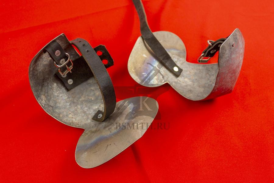 Налокотники миланские нечищенные, титан, фото 3
