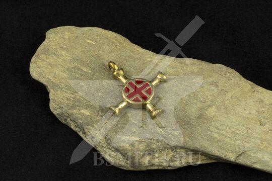 Крест нательный, вариант 2, эмаль