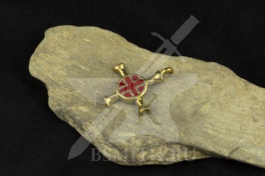 Крест нательный, вариант 2, эмаль, фото 2