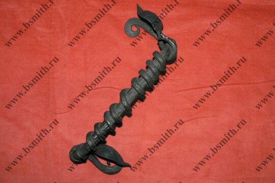 Ручка дверная кованая, обвитая змеей, фото 1