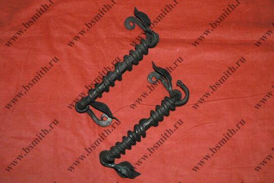 Ручка дверная кованая, обвитая змеей, фото 4