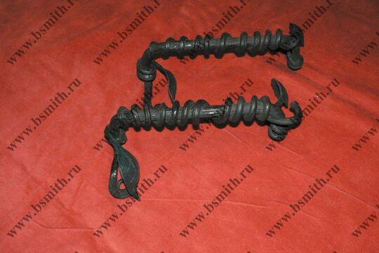 Ручка дверная кованая, обвитая змеей, фото 5