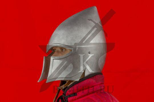 Эльфийский шлем, пластик, вид в три четверти