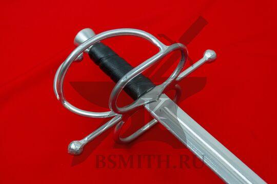 Шпага текстолитовая, витой эфес, эфес крупно со стороны клинка