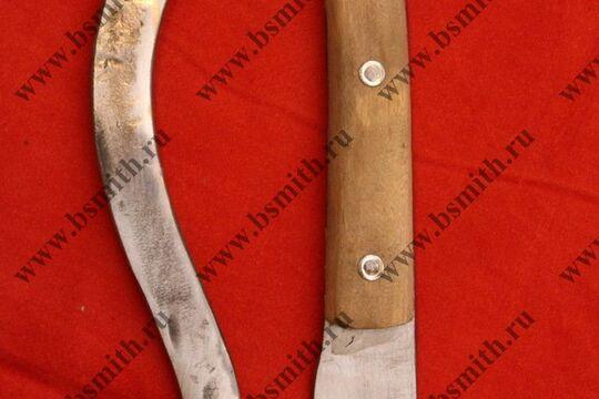 Эрзац фальшион с деревянной ручкой, фото 3
