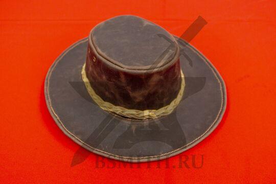 Шляпа федора кожаная, фото 2