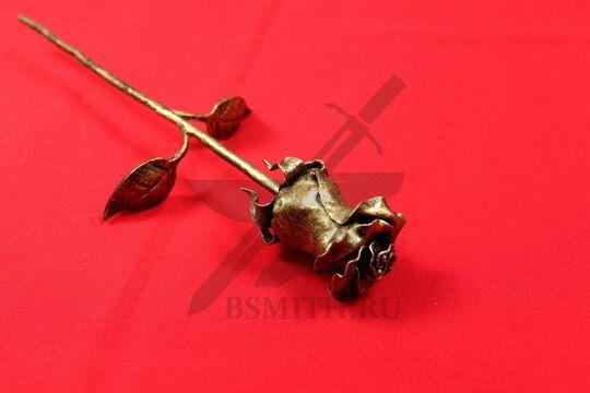 "Кованая роза, цвет ""золото"", бутон крупно"