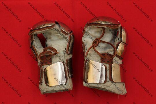 Варежки спортивные стеганые, с титановыми пластинами, фото 3