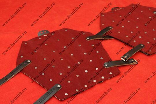 Наголенники бригандные, сукно, стальные пластины, фото 2
