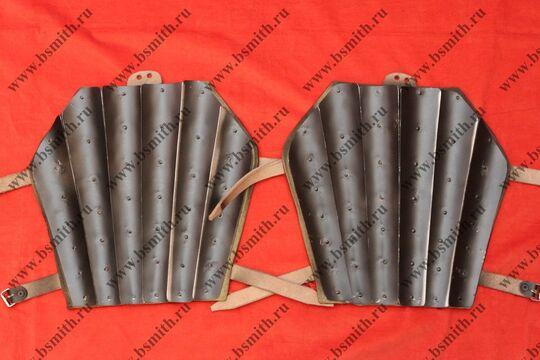 Наголенники бригандные, сукно, стальные пластины, фото 3