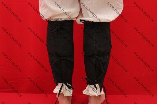 Наголенники стеганые, 2 слоя, лен, вид сзади