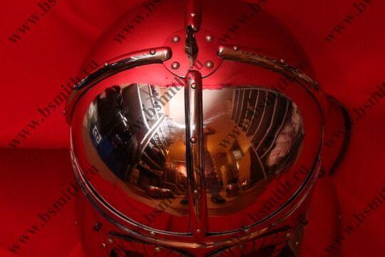 Шлем из Гьермундбю: маска с насечкой, стальные науши с подкладом, полировка, фото 2