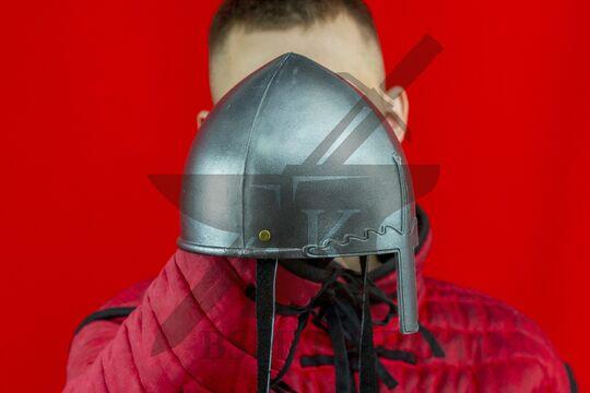 Шлем «норманнский» детский, пластик, вид в три четверти