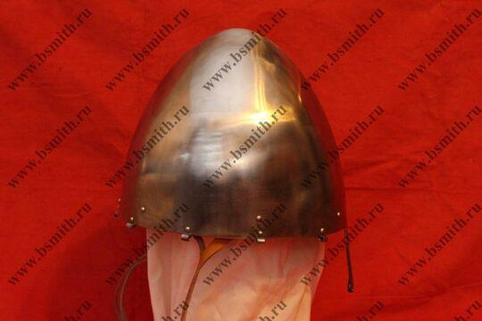 """Шлем норманнский (""""пилотка""""),крепление бармицы скобы, подбородочные ремни,фото 2"""