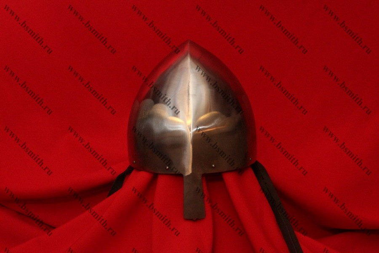 """Шлем норманнский (""""пилотка""""): купол, шлифовка, подвеска парашют, подбородочные ремни, фото 1"""