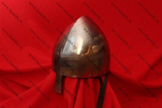 """Шлем норманнский (""""пилотка""""): купол, шлифовка, подвеска парашют, подбородочные ремни, фото 2"""