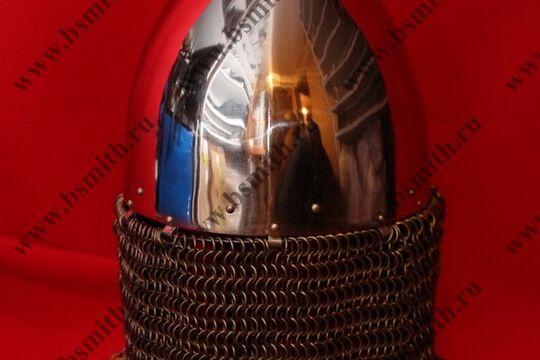 Шлем норманнский, науши, открытая бармица, полировка, фото 3